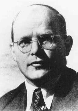 "<p><a href=""/narrative/11713"">Dietrich Bonhoeffer</a>, German Protestant theologian who was executed in the <a href=""/narrative/6783"">Flossenbürg</a> concentration camp on April 9, 1945. Germany, date uncertain.</p>"