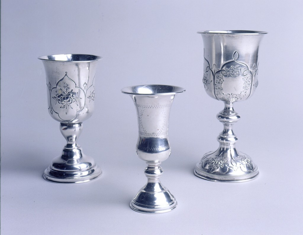 Silver kiddush cups of Caspary family [LCID: 200210aw]