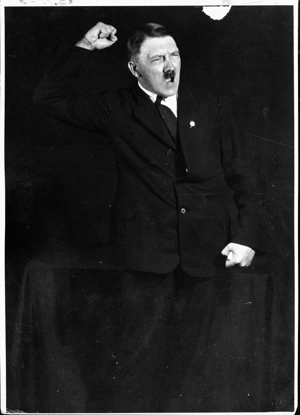Hitler rehearsing his oratory. Hitler carefully cultivated his image as the Nazi Party leader as he came to see the propagandistic ... [LCID: p509]