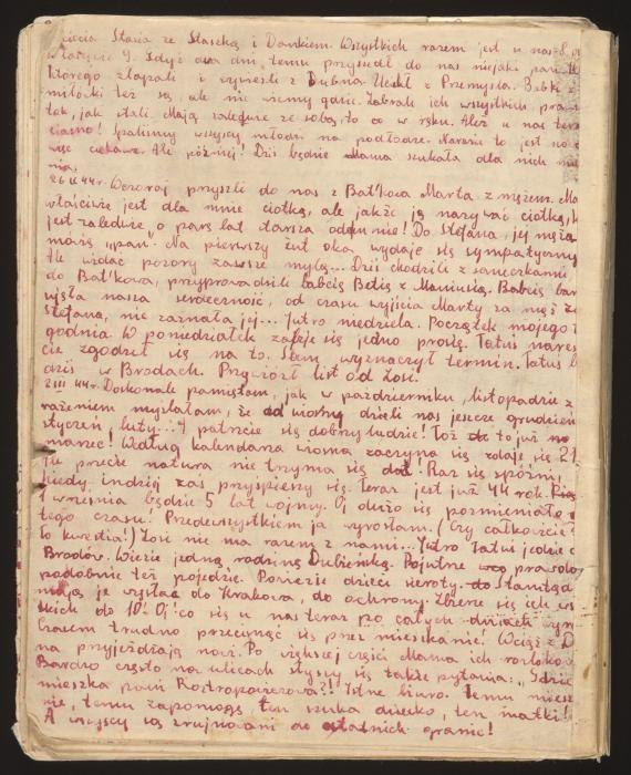 Back cover of Stanislava Roztropowicz's diary