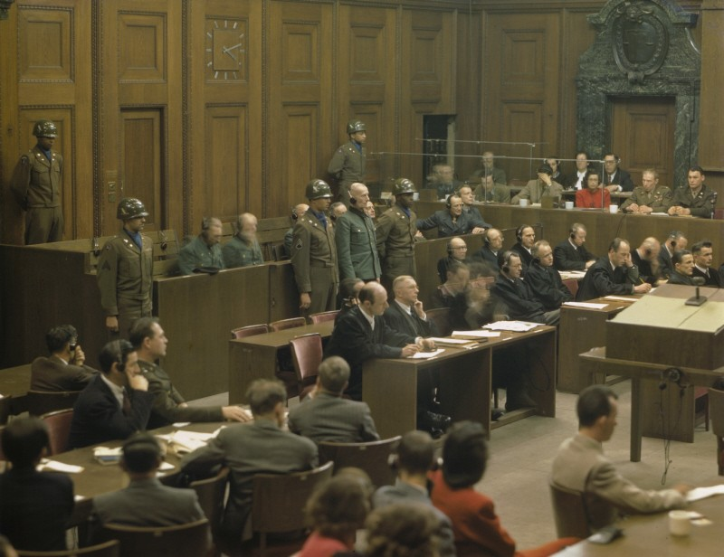 <p>Former German Lieutenant General Walter Kuntze, a defendant in the Hostage Case, is sentenced to life imprisonment by the American military tribunal at Nuremberg. February 19, 1948. (Source record ID: A65III/RA-97-D)</p>
