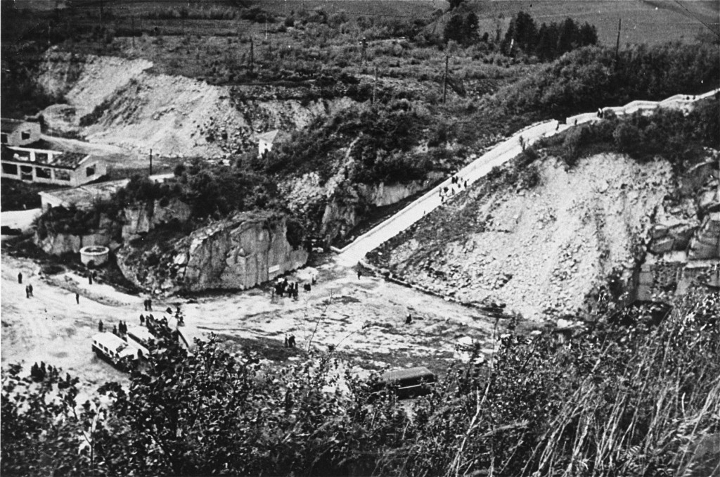 The quarry of the Mauthausen concentration camp. Austria, date uncertain. [LCID: 19539]