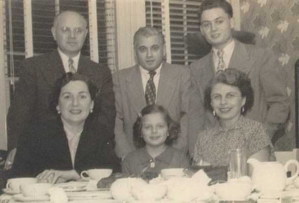 """<p><a href=""""/narrative/10415/en"""">Thomas</a> (standing, right), then known as """"Tommy,"""" with relatives shortly after arriving in the United States. New Jersey, ca. 1952.</p> <p>With the end of World War II and collapse of the Nazi regime, survivors of the Holocaust faced the daunting task of <a href=""""/narrative/10475/en"""">rebuilding their lives</a>. With little in the way of financial resources and few, if any, surviving family members, most eventually emigrated from Europe to start their lives again. Between 1945 and 1952, more than 80,000 Holocaust survivors immigrated to the United States. Thomas was one of them.</p>"""