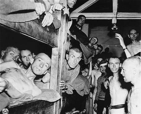 Survivants du camp de concentration de Mauthausen. [LCID: 68213]