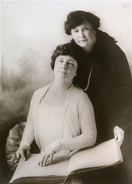 Portrait of Helen Keller and her teacher, Miss Macy. [LCID: 90400]