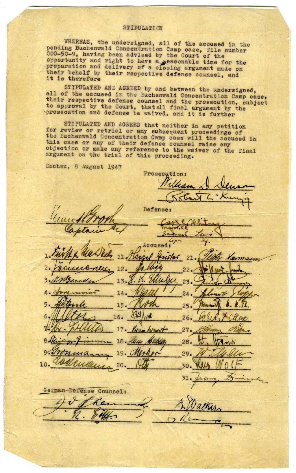 Buchenwald trial document [LCID: 20057gq1]