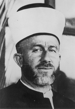The Mufti of Jerusalem (1921-1937) Hajj Amin al-Husayni, an Arab nationalist, prominent Muslim religious leader, and wartime propagandist ... [LCID: 59067]