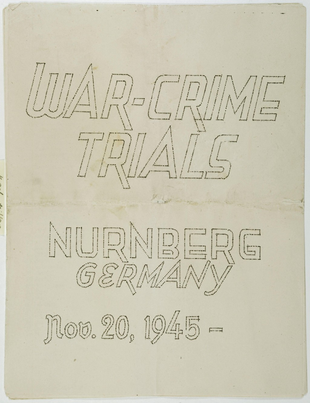 Cover, International Military Tribunal program [LCID: 20053rvo]
