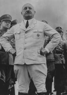"Nazi official Julius Streicher, founder of the antisemitic newspaper ""Der Stuermer"" (The Attacker) and organizer of the anti-Jewish boycott."
