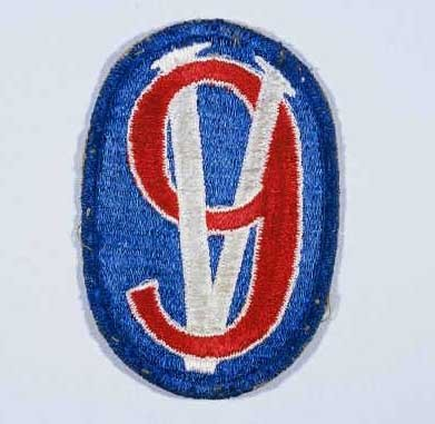 """Insignia of the 95th Infantry Division. The 95th Infantry Division, the """"Victory"""" division, gained its nickname from the divisional ... [LCID: n05650]"""