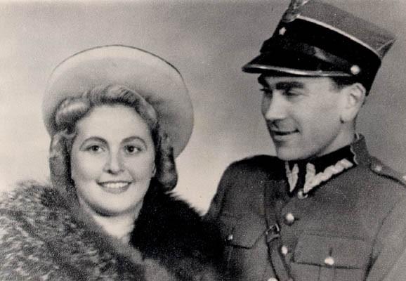 Norman Salsitz and Amalie Petranka shortly after they met (under their assumed identities of, respectively, Felicja Milaszewska and Tadeusz Zaleski).