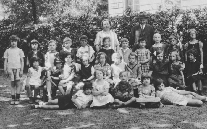 Austrian and Jewish children in a first grade class in Vienna Austria. 1927-1928.