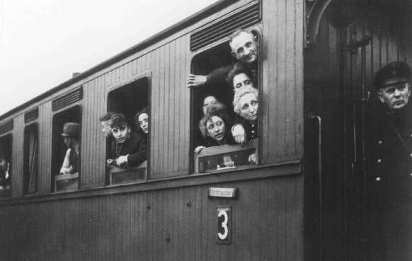 "<p>Deportation of Jews to <a href=""/narrative/6400/en"">Riga</a>, Latvia. Bielefeld, Germany, December 13, 1941.</p>"