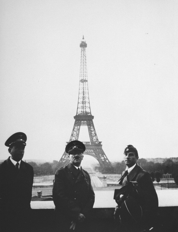 Adolf Hitler and his personal architect, Albert Speer, in Paris shortly after the fall of France. [LCID: 80491]