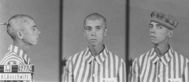 Identification pictures of a Jewish inmate of the Auschwitz camp. [LCID: 90350]