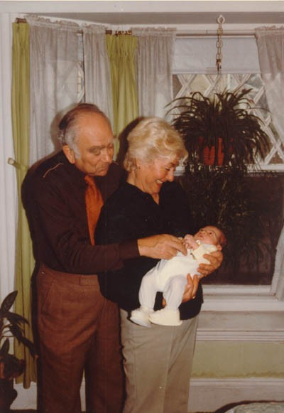 "<p><a href=""/narrative/10265"">Norman</a> and Amalie Salsitz with their first grandchild, Dustin. March 11, 1983.</p>