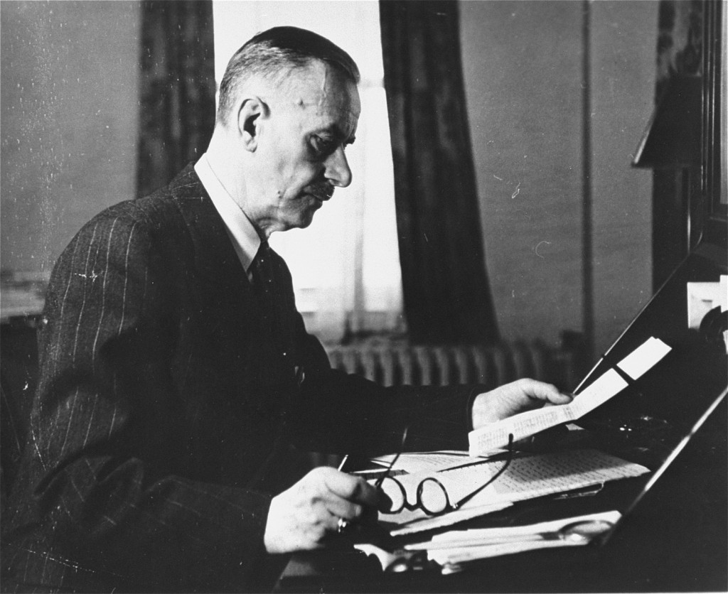 Thomas Mann, seen here in Germany before the war, was a noted German novelist and Nobel Laureate. [LCID: 69034]