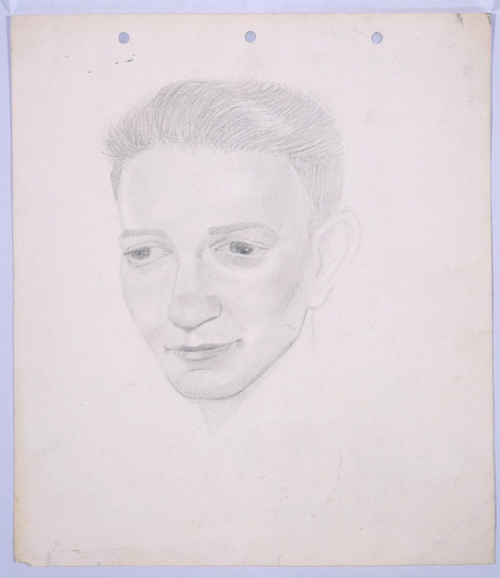 Portrait by refugee artist Yonia Fain [LCID: 2002a57z]