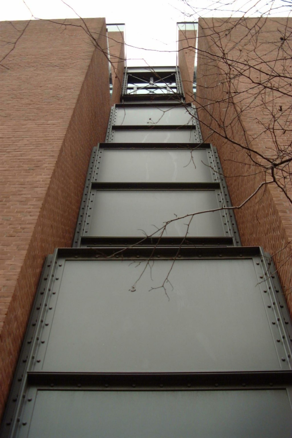 Photograph of exterior wall of the United States Holocaust Memorial Museum. [LCID: wall]
