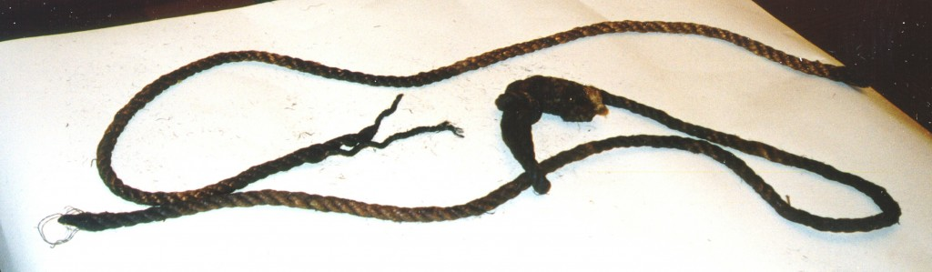 Rope used in hanging [LCID: 2002p2uk]
