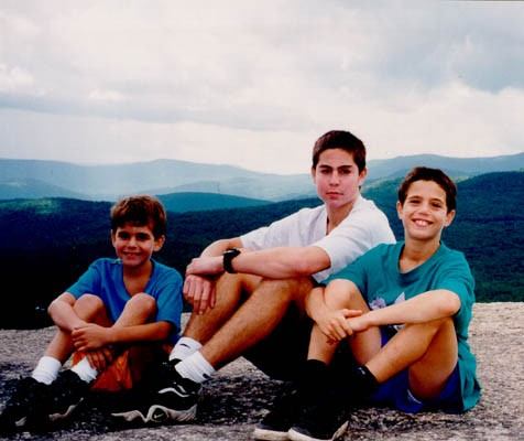 "<p><a href=""/narrative/10265"">Norman</a>'s grandchildren, Michael, Dustin, and Aaron in 1997.</p>