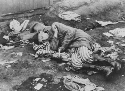 A camp survivor, soon after liberation. Bergen-Belsen, Germany, after April 12, 1945. [LCID: 75127]