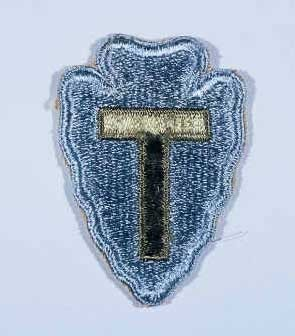"""Insignia of the 36th Infantry Division. The 36th Infantry Division, the """"Texas"""" division, was raised from National Guard units from ... [LCID: n05636]"""