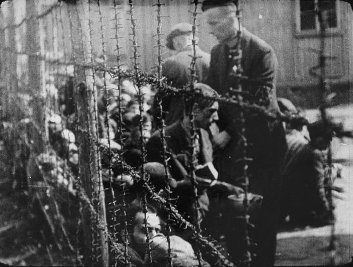Survivors in Bergen-Belsen concentration camp after liberation.