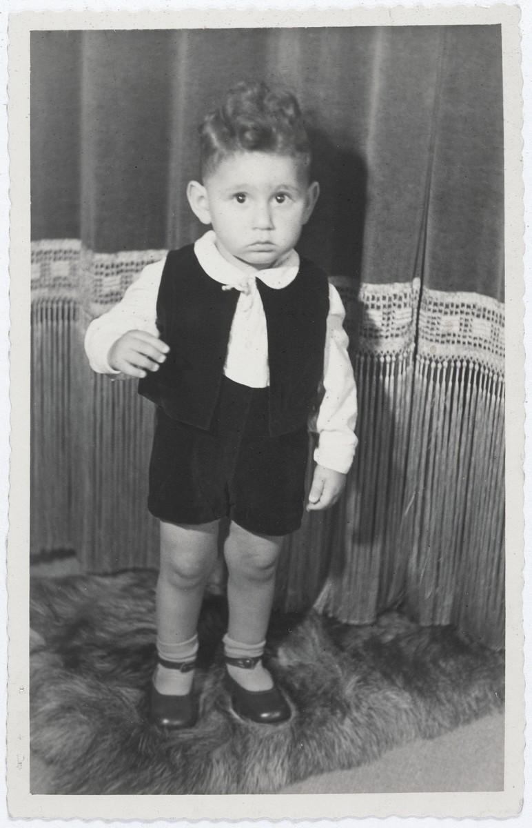 <p>یہودی بچہ ھینز وین ڈین بروئک (پیدائش کے وقت نام ھینز کلپ) نیدرلینڈ میں چھپا ہوا ہے۔ وہ اس تصویر میں دو سال کا ہے۔</p>