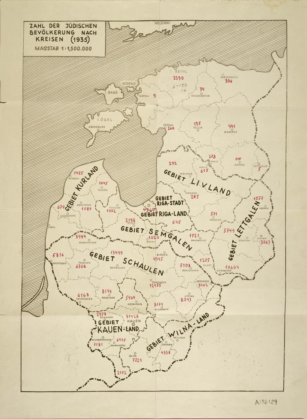 German Map of the Baltic Countries [LCID: 2015bf5t]