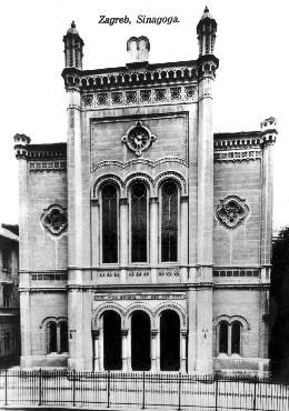 A synagogue, prewar. Zagreb