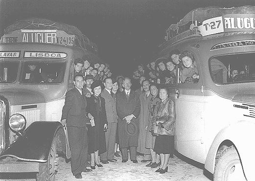 <p>Jewish refugees arrive in Lisbon. Lisbon, Portugal, June 3-4, 1941.</p>