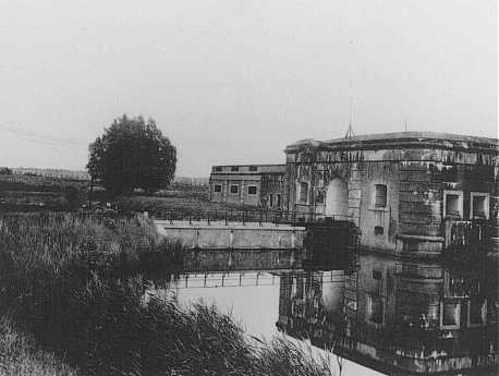 A view of the Breendonk internment camp. Breendonk, Belgium, postwar. [LCID: 41204]