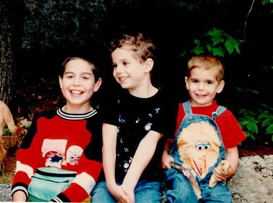 Norman's grandchildren, Dustin, Aaron, and Michael.