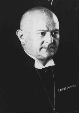 <p>Ludwig Mueller, a Nazi sympathizer, was elected to the position of Reich Bishop in 1933 as Hitler attempted to unite regional Protestant churches under Nazi control. Berlin, Germany, November 17, 1933.</p>
