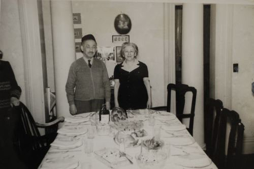 Abraham Kaplan and his wife Maria at their home in Paterson, New Jersey.