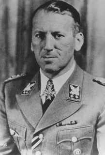 "<p>1943 photograph of SS General <a href=""/narrative/9855"">Ernst Kaltenbrunner</a>, who served as head of the Reich Security Main Office (RSHA) and as chief of Nazi Security Police (Sipo) and the Security Service (SD). </p>"
