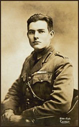 Ernest Hemingway in his World War I Red Cross Ambulance Corps uniform, ca. [LCID: lc301]
