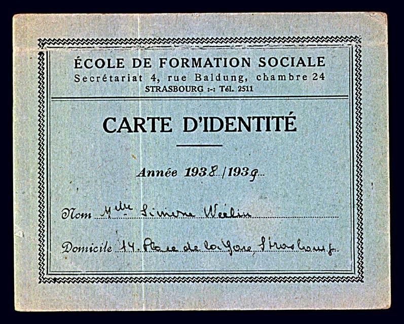 Simone Weil's falsified student card [LCID: 1998hmn0]