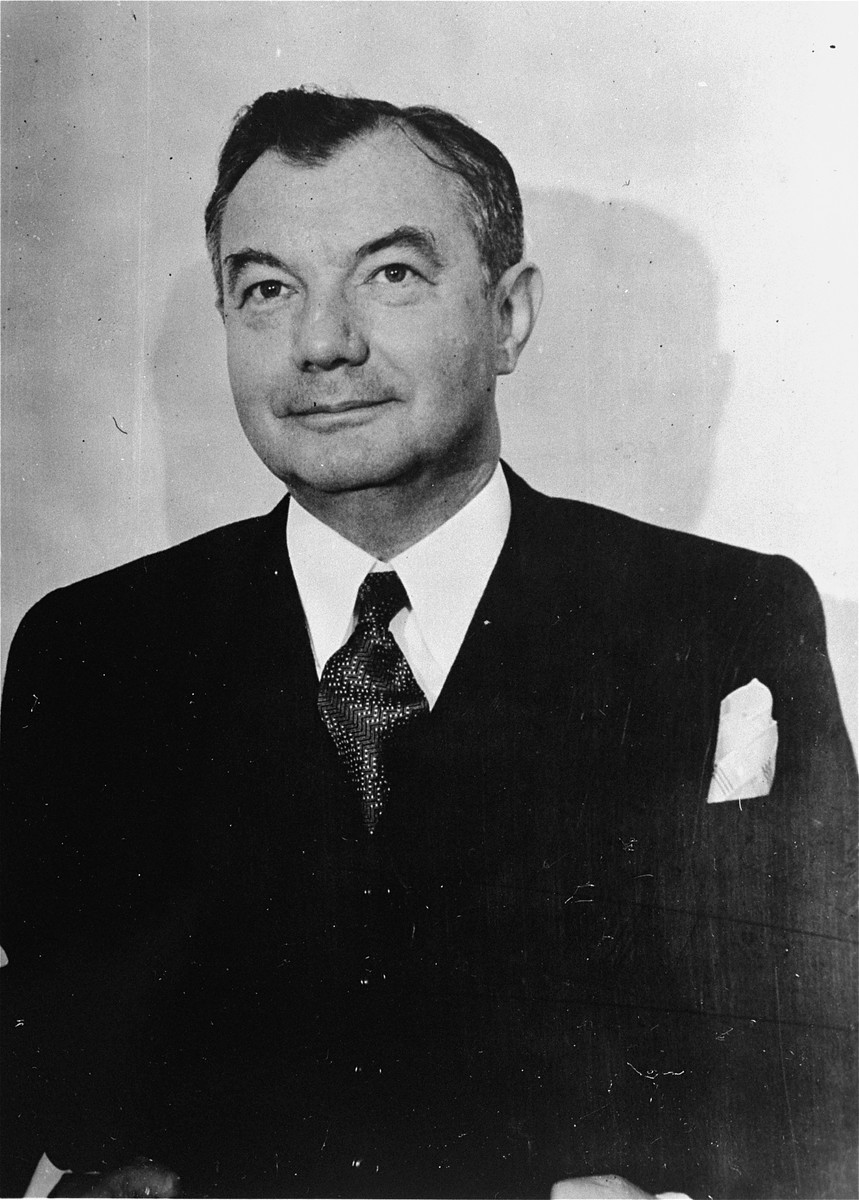 US Chief Prosecuter Robert H. Jackson, pictured at the time of the International Military Tribunal (1945–1946). [LCID: 16790]