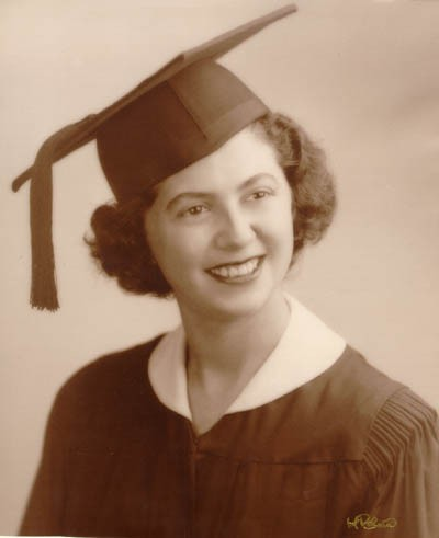 <p>Regina upon graduation from Thomas Jefferson High School in Brooklyn, New York, February 3, 1949.</p>