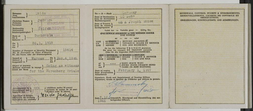 Jadwiga Dzido's military entry permit [LCID: 20058tt8]