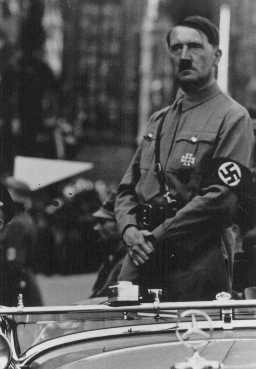 <p>Adolf Hitler. Place and date uncertain.</p>