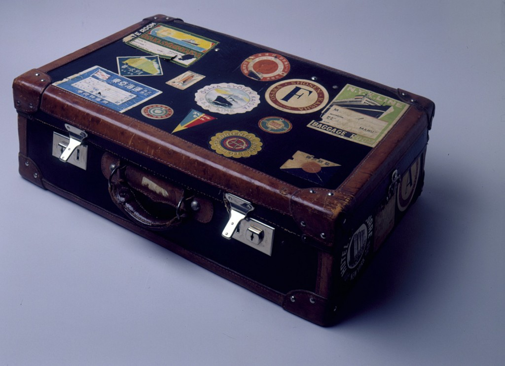 Suitcase belonging to a Polish Jewish refugee (exterior) [LCID: 2000egky]