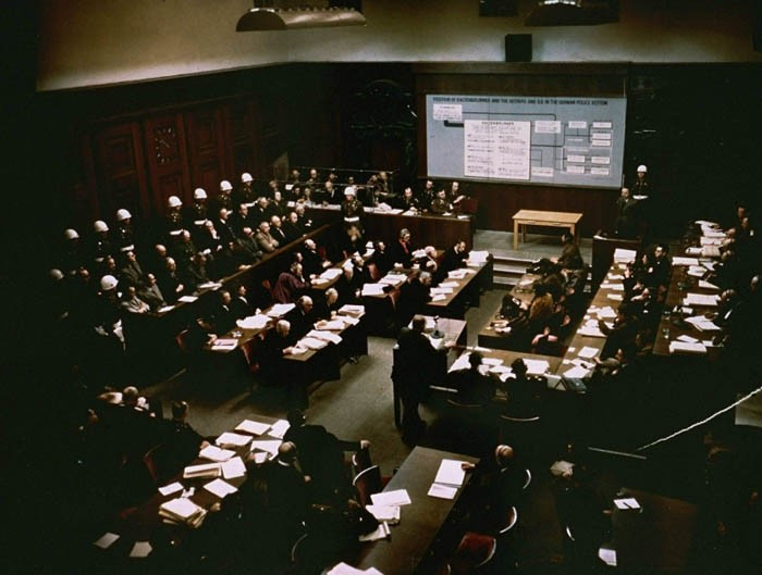 "<p>The presentation of evidence about defendant <a href=""/narrative/9855"">Ernst Kaltenbrunner</a> at the International Military Tribunal trial of war criminals at Nuremberg. Germany, January 2, 1946.</p>