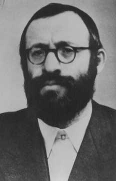 Rabin Michael Dov Weissmandel, lider grupy roboczej (Pracovna Skupina), żydowskiej grupy podziemnej poświęconej ratowaniu… [LCID: 77484]