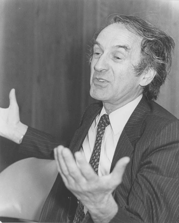 "<p><a href=""/narrative/10130"">Elie Wiesel</a> speaks at the Faith in Humankind conference, held before the opening of the United States Holocaust Memorial Museum, on September 18–19, 1984, in Washington, DC.</p>"