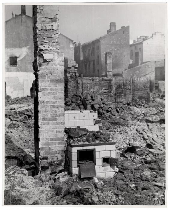 A bombed out home in Warsaw, the besieged capital of Poland