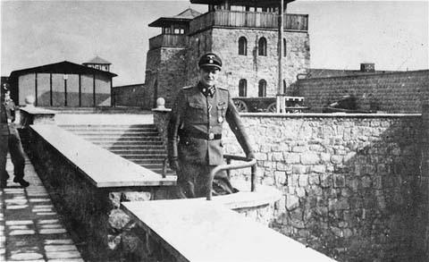 <p>Le colonel SS Franz Ziereis, commandant du camp de concentration de Mauthausen. Autriche, date incertaine.</p>