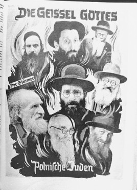 """Page of """"Der Stuermer"""" (The Attacker) showing an antisemitic photomontage, Germany, 1939. [LCID: 73665]"""